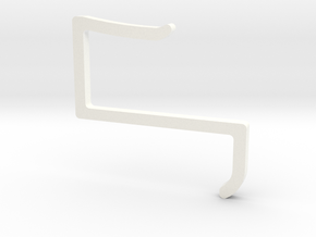 Door Hook in White Processed Versatile Plastic