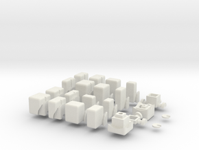 3x3x2 Cubic bump Cube in White Natural Versatile Plastic