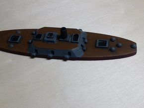1/600 CSS Columbia in Black Natural Versatile Plastic