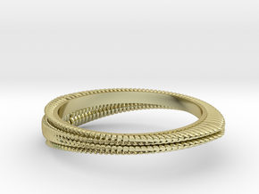 Wave ring(Japan 10,USA 5.5,Britain K)  in 18k Gold
