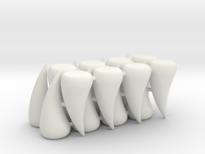 Rampage Teeth (16 pcs) in White Strong & Flexible