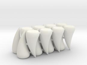 Rampage Teeth (16 pcs) in White Natural Versatile Plastic