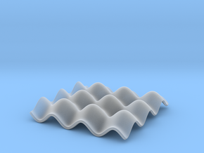 Mathematical Function 3 in Smooth Fine Detail Plastic