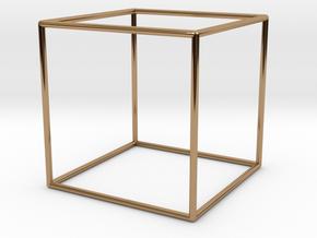 Cube Bracelet - Medium in Polished Brass