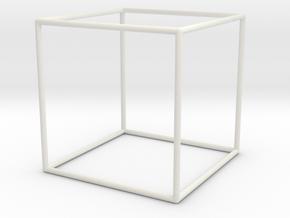 Cube Bracelet - Medium in White Natural Versatile Plastic