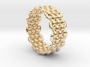 Wicker Pattern Ring Size 6 in 14K Yellow Gold
