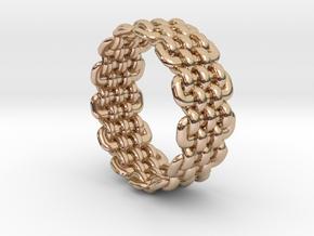 Wicker Pattern Ring Size 5 in 14k Rose Gold