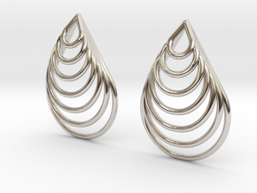 Teardrop Earrings in Rhodium Plated Brass