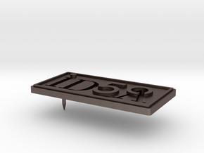 IDSA 50 Pin Design V4 2015 07 28 in Polished Bronzed Silver Steel