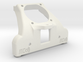 B5M 25MM FAN CHASSIS BRACE (waterfall) in White Natural Versatile Plastic