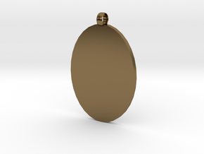 Customizable Cameo Pendant in Polished Bronze