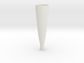 parabolic horn in White Natural Versatile Plastic
