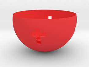 Candle holder in Red Processed Versatile Plastic