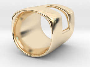 Back to basic collection - One Way Out (US size 6) in 14k Gold Plated Brass