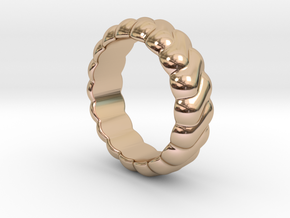 Harmony Ring 31 - Italian Size 31 in 14k Rose Gold Plated Brass
