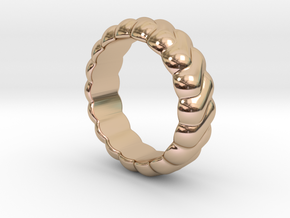 Harmony Ring 32 - Italian Size 32 in 14k Rose Gold Plated Brass