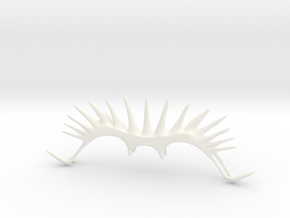 Spikes or Sunrays Eyeglass Cap in White Strong & Flexible Polished