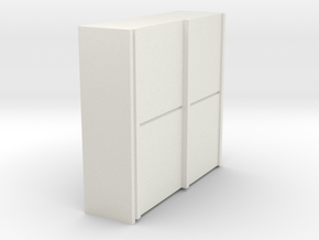 A 010 sliding closet Schiebeschrank 1:87 in White Natural Versatile Plastic
