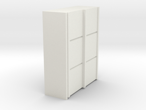 A 012 sliding closet Schiebeschrank 1:87 in White Strong & Flexible