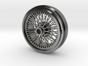 1/8 Wire Wheel Rear, with 72 spokes in Fine Detail Polished Silver