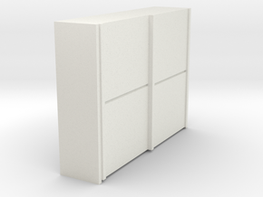 A 018  sliding closet Schiebeschrank 1:87 in White Natural Versatile Plastic