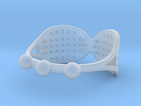 Tennis Racquet Ring in Smooth Fine Detail Plastic