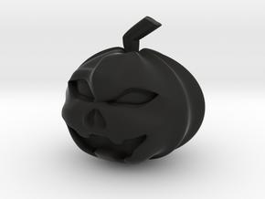Halloween Hollowed Figurine: Evil Pumpking in Black Natural Versatile Plastic