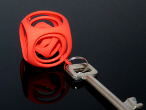 Gyro the Cube (S) (Ring + Smooth) in White Processed Versatile Plastic