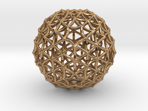 Fractal Geom Sphere in Polished Brass
