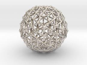Fractal Geom Sphere in Rhodium Plated Brass