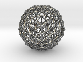 Fractal Geom Sphere in Fine Detail Polished Silver