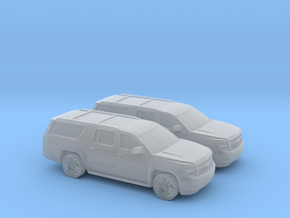 1/160 2X 2015 Chevrolet Suburban in Frosted Ultra Detail