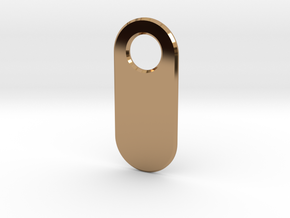 Personalised Keychain Tag in Polished Brass