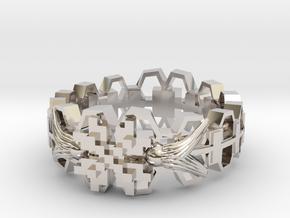 Wayuu memorial ring(Japan 10,USA 5.5,Britain K) in Rhodium Plated Brass