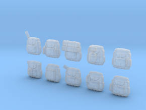 28mm Soldier backpacks (10) in Frosted Ultra Detail