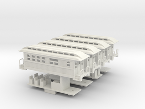 Z Scale Overton Passenger Cars in White Natural Versatile Plastic