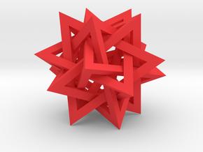 """5 Tetrahedron Compound, 5"""" diameter in Red Processed Versatile Plastic"""