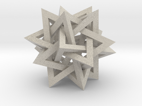 "Tetrahedron 5 Compound, 2.4"" diameter in Natural Sandstone"