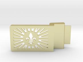 Fleur De Lis Belt Buckle in 18k Gold Plated Brass