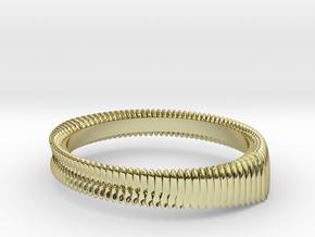 Springring (Japan 11,America 6,Britain L) in 18k Gold Plated Brass