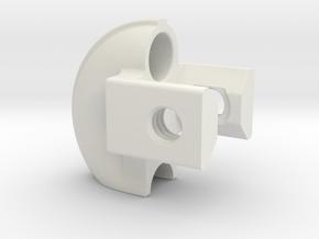 "Linear Bearing, Recirc Ball, 8020 1"" Extrd in White Natural Versatile Plastic"