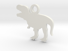 T-Rex Necklace Charm ($4.99 and up) in White Natural Versatile Plastic