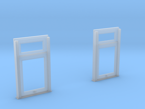 1:20 scale  Carter Coach end windows in Smooth Fine Detail Plastic