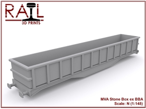 N Scale MVA Stone Box in Smooth Fine Detail Plastic