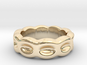 Funny Ring 16 - Italian Size 16 in 14k Gold Plated Brass