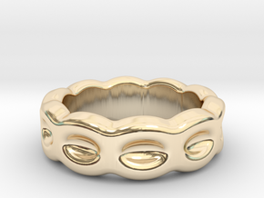 Funny Ring 20 - Italian Size 20 in 14k Gold Plated Brass