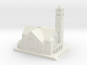Adventskerk Model (10 cm) in White Natural Versatile Plastic
