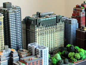 New York Plaza Hotel 8x4 in Full Color Sandstone