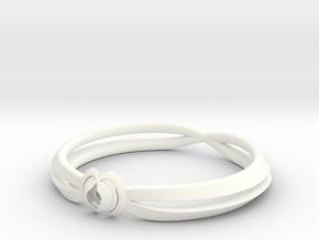 Rose ring (Japan 16,America 8~8.5,Britain P~Q)  in White Processed Versatile Plastic