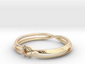 Rose ring (Japan 16,America 8~8.5,Britain P~Q)  in 14K Yellow Gold